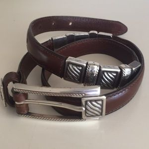 "BRIGHTON brown leather belt 36"" total length"